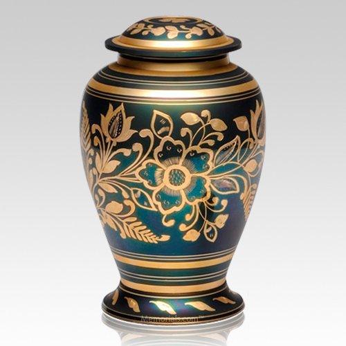 Golden Flower Cremation Urn
