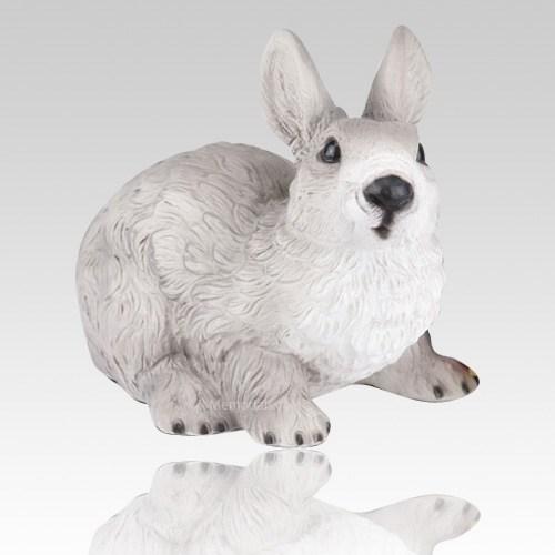 Gray Rabbit Cremation Urn
