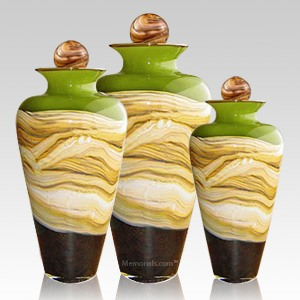 Celestial Green Cremation Urns