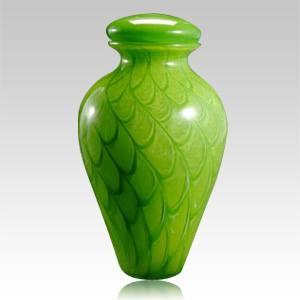 Green Wishing Star Glass Urn