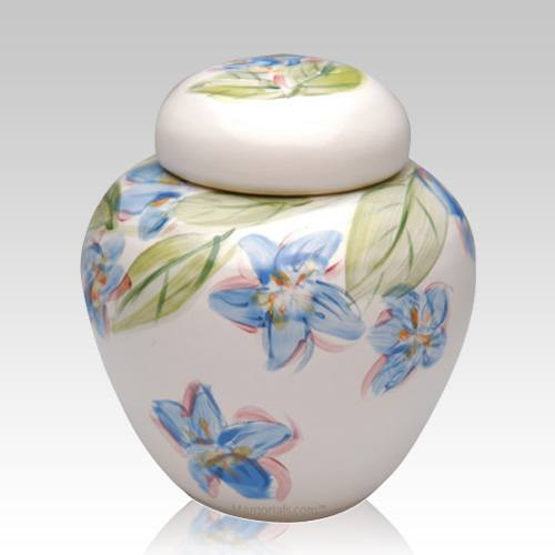 Blue Dogwood Cremation Urn
