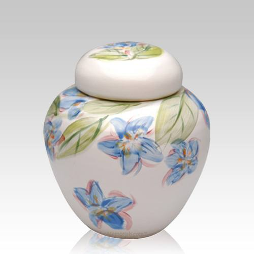 Blue Dogwood Medium Cremation Urn