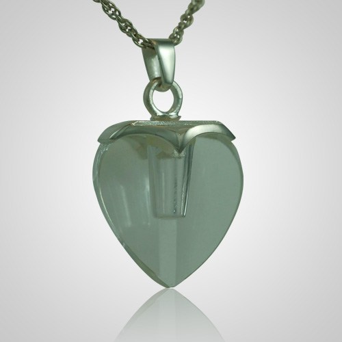 Glass Heart Memorial Jewelry