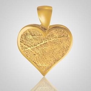 Heart Foot Print 14k Yellow Gold Keepsake