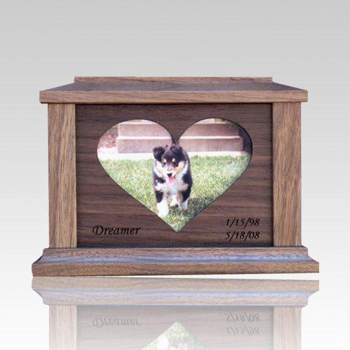 Center Heart Picture Cremation Urn - Medium