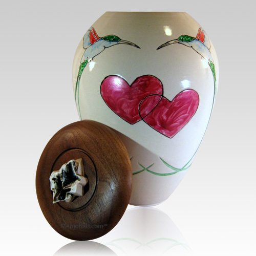 Hummingbird Heart Cremation Urn