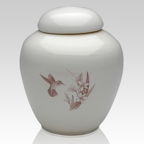 Peaceful Hummingbirds Companion Cremation Urn