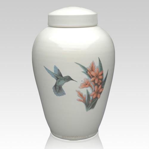 Hummingbird Ceramic Companion Cremation Urn