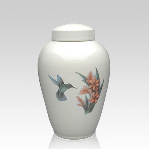 Hummingbird Ceramic Keepsake Cremation Urn