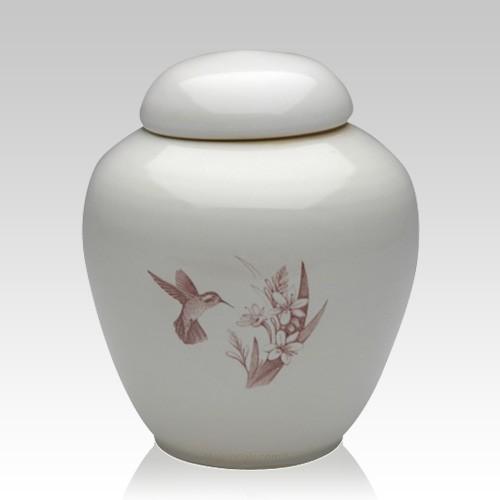 Peaceful Hummingbirds Cremation Urn