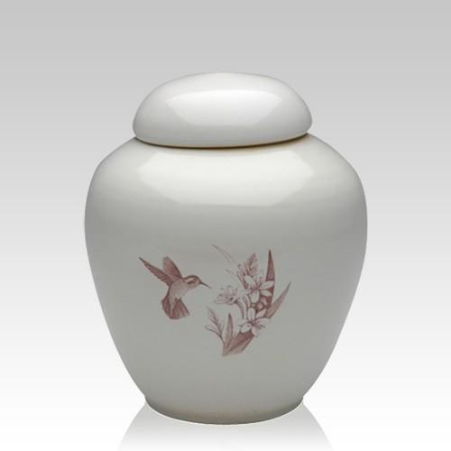 Peaceful Hummingbirds Medium Cremation Urn