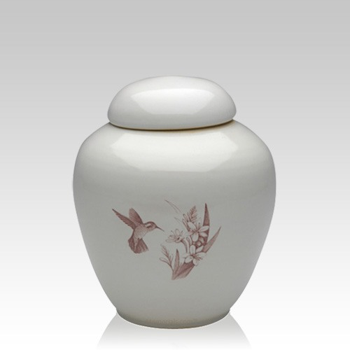 Peaceful Hummingbirds Small Cremation Urn