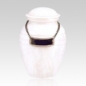 White Pet Marble Small Urn