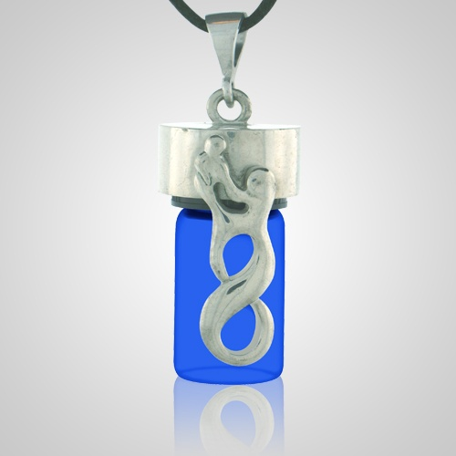 Infinity Blue Cremation Necklace