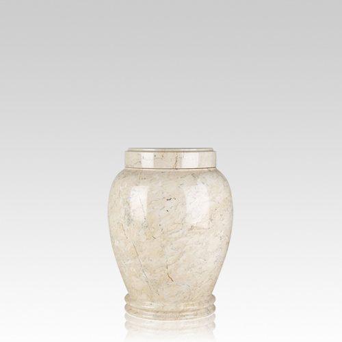 Botticino Marble Small Cremation Urn