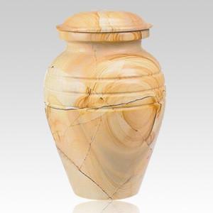 Teakwood Classic Marble Cremation Urn