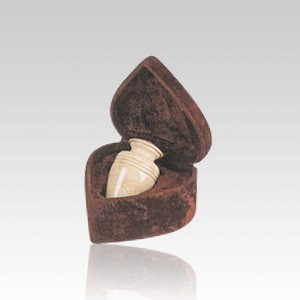 Cream Classic Small Marble Cremation Urn