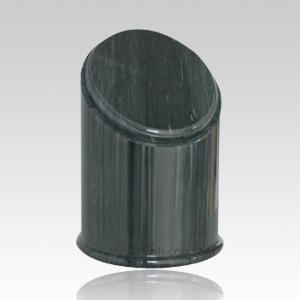 Crown Black Small Marble Urn