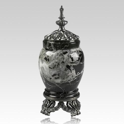 Black Zebra Pewter & Marble Medium Urn