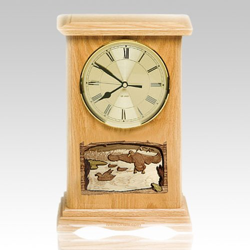Marshland Clock Oak Cremation Urn