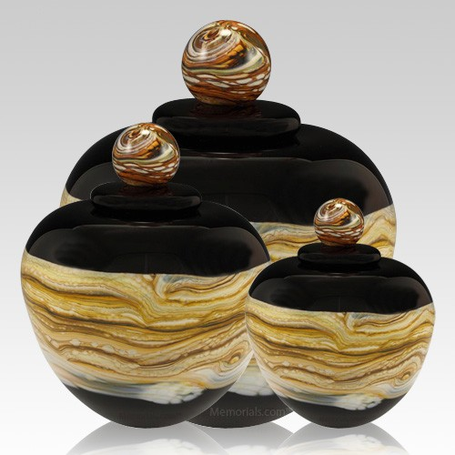 Memoriam Black Art Cremation Urns