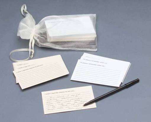 Memory Sympathy Keepsake Cards