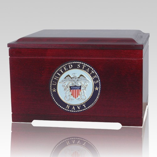 Navy Memory Chest Cremation Urn