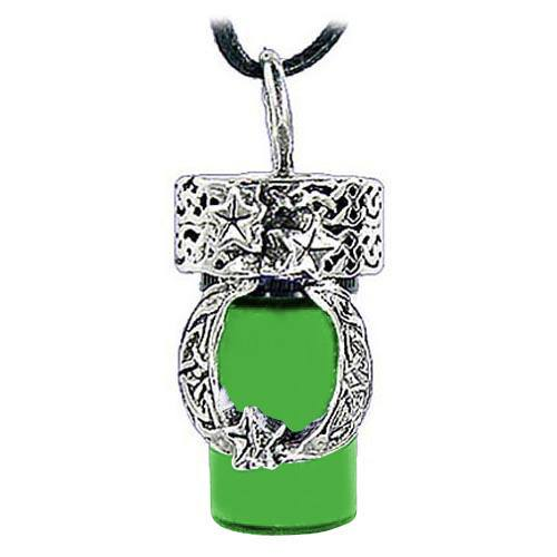 Moon Green Cremation Urn Necklace