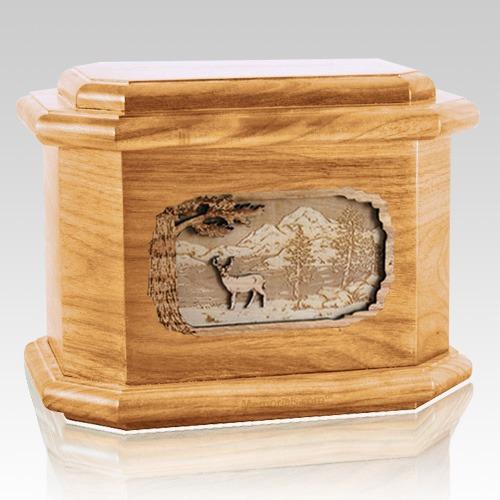 Deer Oak Octagon Cremation Urn