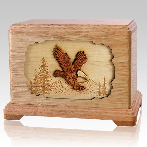 Eagle Oak Hampton Cremation Urn