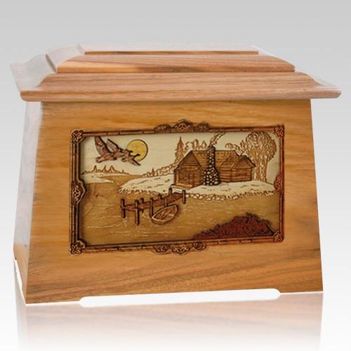 Rustic Paradise Oak Aristocrat Cremation Urn