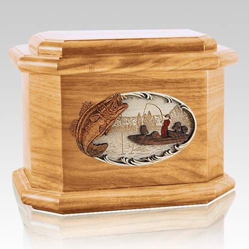 Catch of the Day Oak Octagon Cremation Urn
