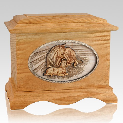 Daddys Love Oak Cremation Urn