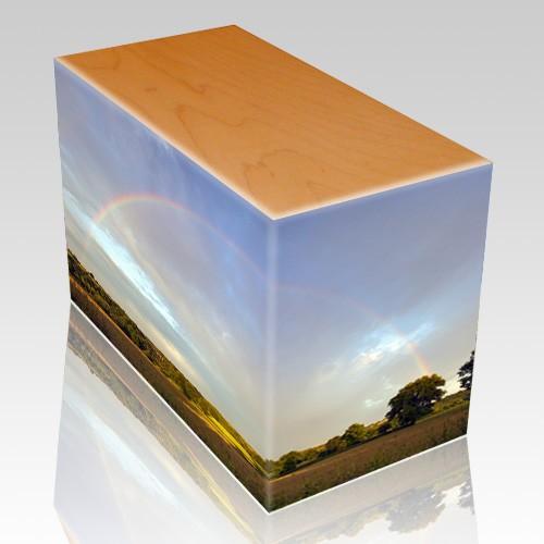 Rainbow Oak Child Cremation Urn III