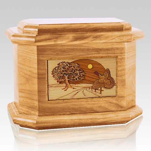 Turkey Oak Octagon Cremation Urn