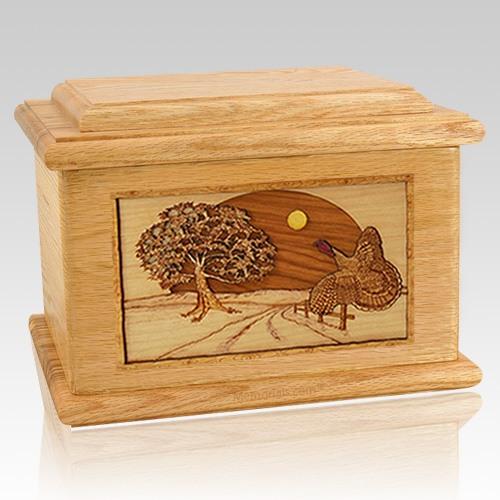 Turkey Oak Memory Chest Cremation Urn