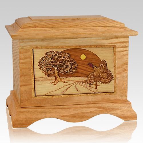 Turkey Oak Cremation Urn