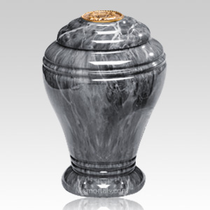 Midnight Onyx Marble Cremation Urn IV