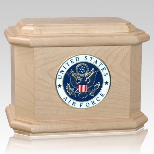 Patriot Air Force Maple Wood Urn