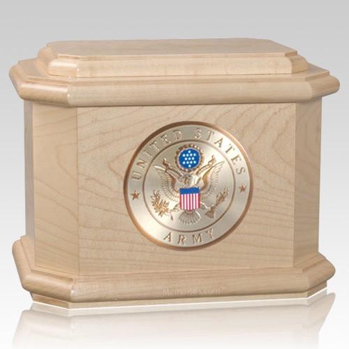 Patriot Army Maple Wood Urn