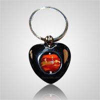 Black Heart Cremation Keychain
