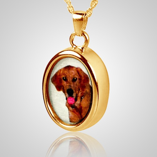 Oval Pet Picture Cremation Pendant IV