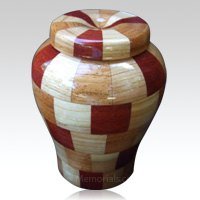 Hic Cho Large Wood Urn
