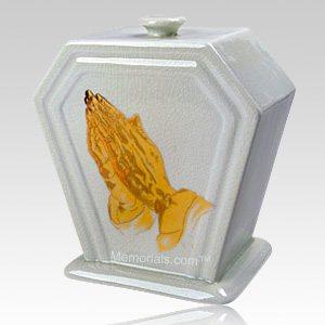 Praying Porcelain Cremation Urn