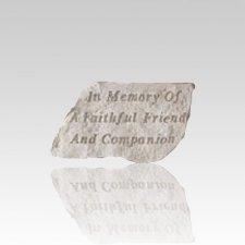 In Memory Of Faithful Friend Stone