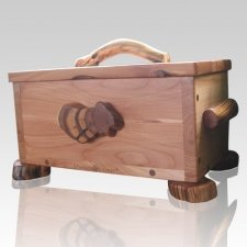 Wurzelknecht Juniper Wood Urn for Two