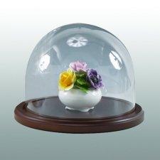 Walnut Wide Glass Keepsake Dome