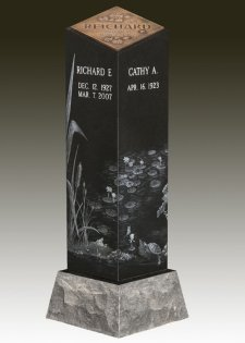 Lilly Pad Cremation Pillar