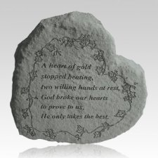 A Heart Of Gold Heart Shaped Stone