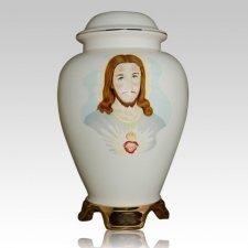 Jesus Ceramic Cremation Urn
